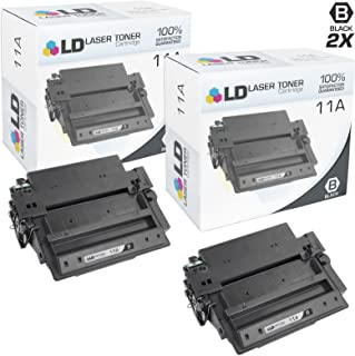 LD Compatible Toner Cartridge Replacement for HP 11A Q6511A (Black, 2-Pack)