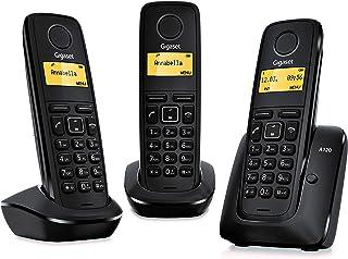 Gigaset A120 Trio - Teléfono inalámbrico, pack de tres unidades