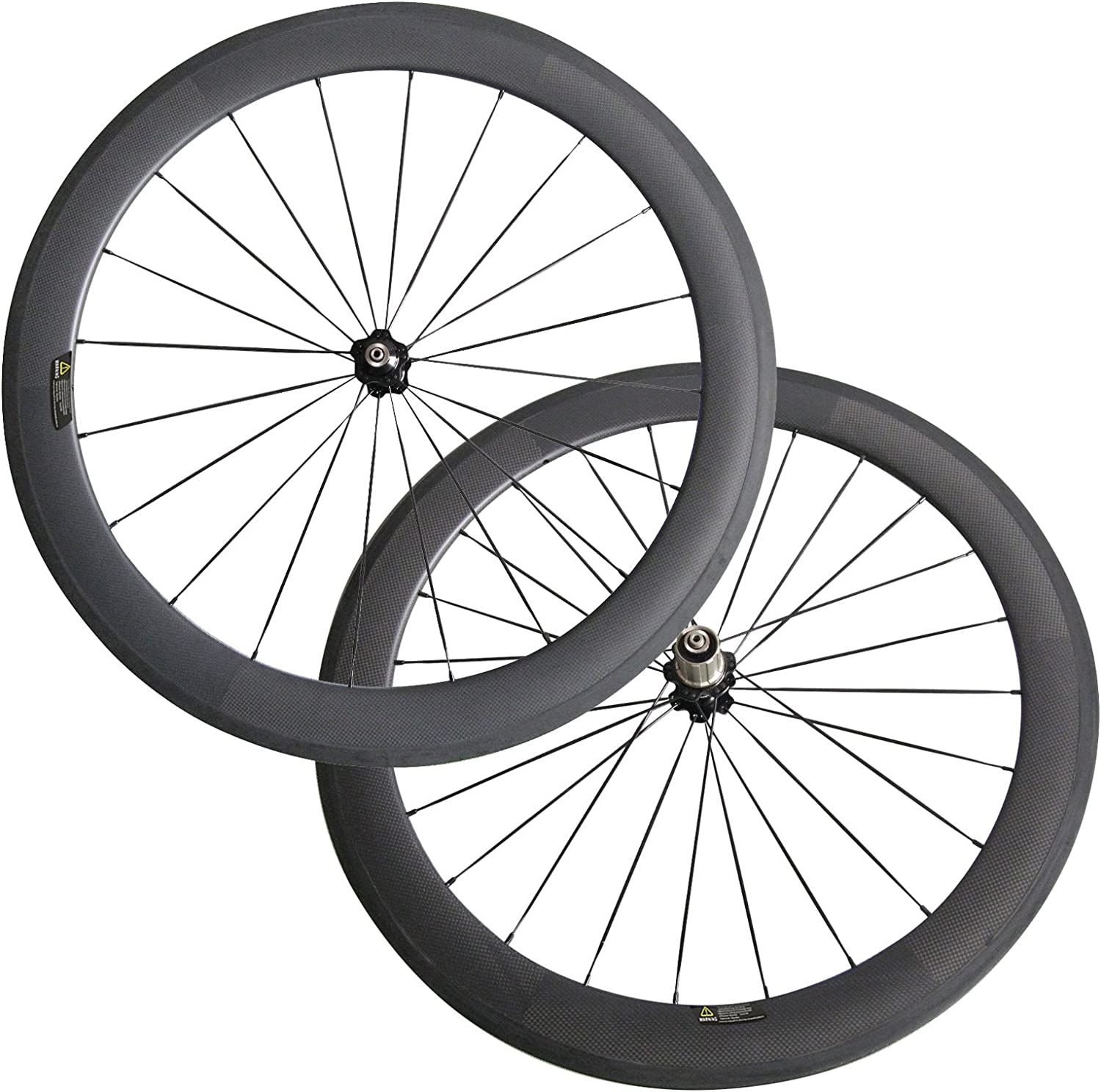 LOLTRA 60mm Clincher 23mm Width Carbon Wheelset Carbon Fiber Bike Wheels