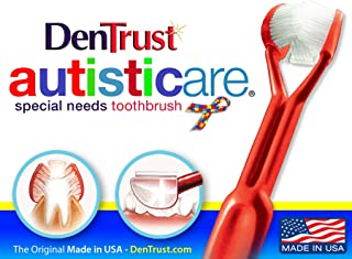 DenTrust Special Needs 3 Sided Toothbrush : Fun and Easy : Complete Teeth and Gum-Care:
