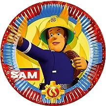 amscan International 9902175 23 cm Fireman Sam Paper Plates