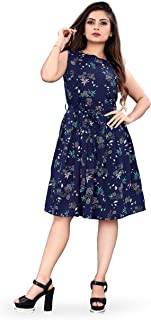 New Ethical Fashion Printed Knee Length Dress for Women_F28