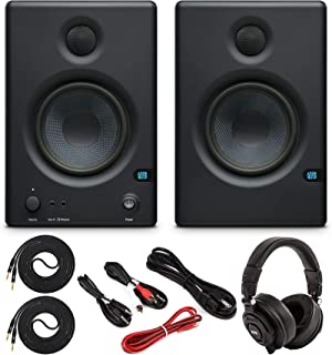 """PreSonus Eris E4.5 Pair High-Definition 2-Way 4.5"""" Active Home/Studio Monitor Set w/Stereo and TRS Male/Male Instrument Ca..."""