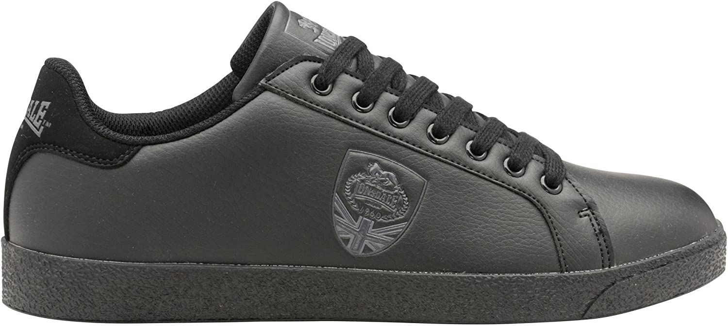 Lonsdale Mens Lowton Trainers (9 UK) (Black Grey)