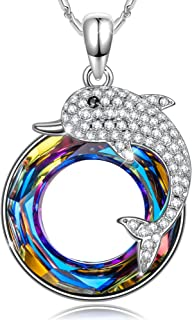 SIVERY Women's 'Dolphin Fairy' Pendant Necklace, Made...