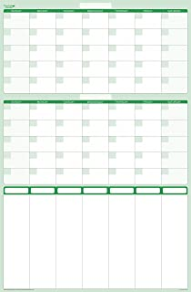 $21 » Earth Green 60-day Dry-erasable wall calendar planner with 7-column priority planner 24 wide X 36 tall