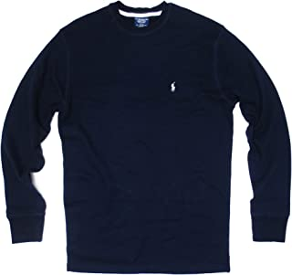 Polo Ralph Lauren Sleepwear Mens Long Sleeve Thermal T-shirt (X-Large, Navy)