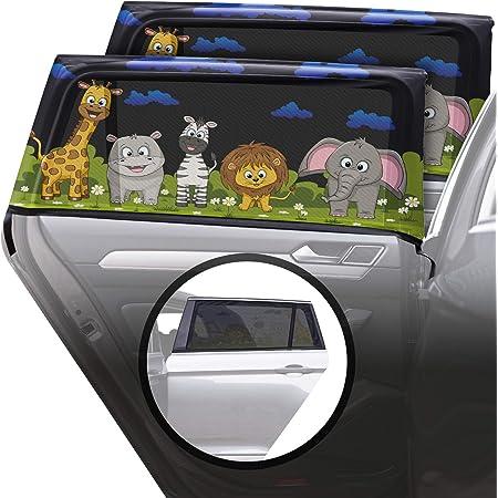 Auto Fenster Sonnenschutz 2 St/ück selbsthaftende Sonnenblende Auto Kinder Sonnenblende Auto Baby Sonnenschutz CARAMAZ Sonnenschutz 51x31cm Auto Baby mit UV Schutz extra dunkel