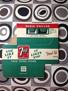 Vintage 1940's 7UP Soda Bottle Carton