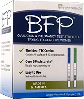 BFP Ovulation & Pregnancy Test Strips, Made in N. America, 40 LH Ovulation & 10 hcg Pregnancy Tests - Early Predictor Kit ...