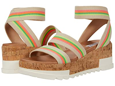 Steve Madden Bandi Wedge Sandal (Bright Multi) Women