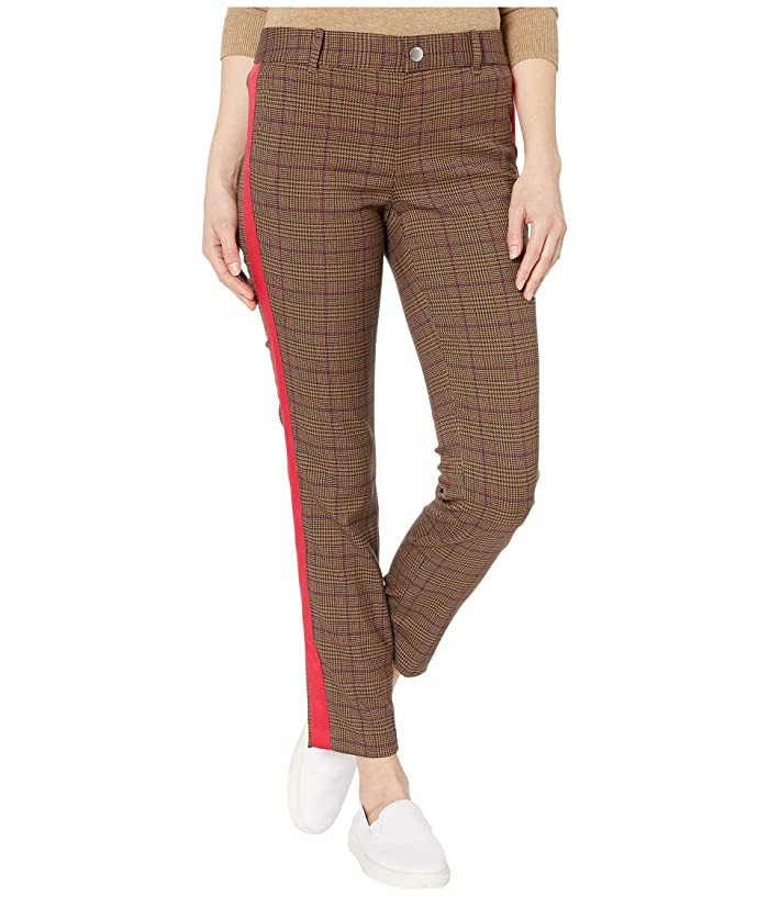 Tommy Hilfiger Adaptive  Riley Skinny Plaid Pants (Penny Brown/Multi) Womens Casual Pants