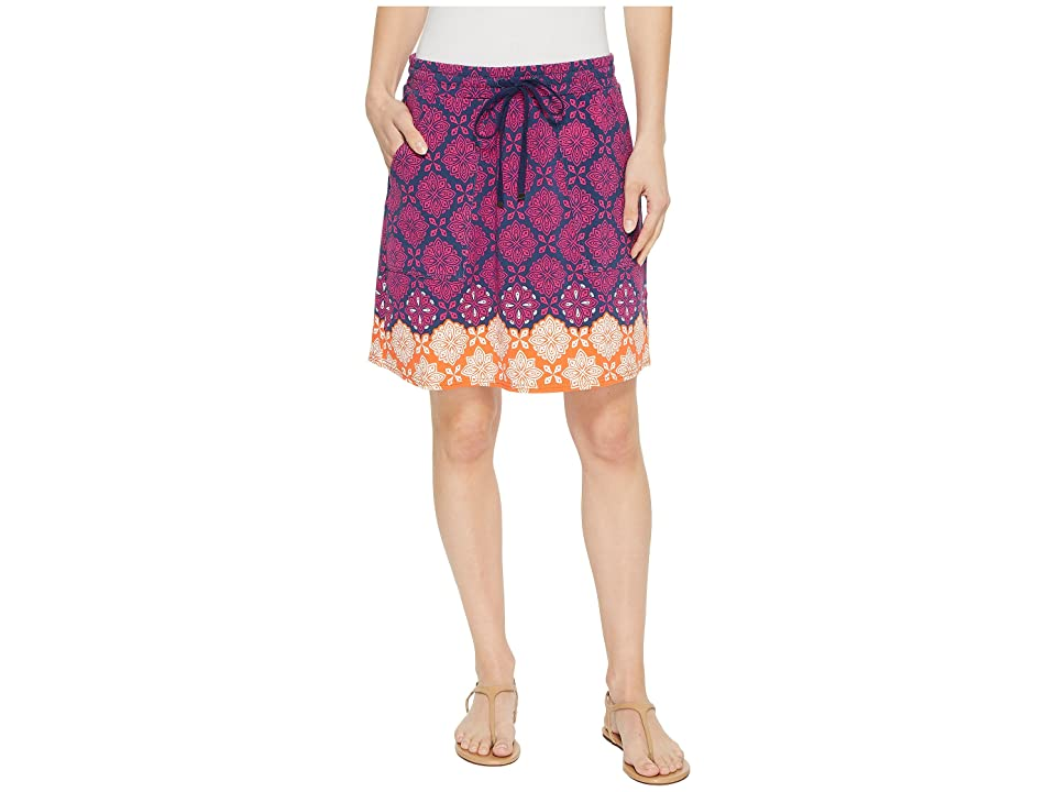 Hatley Christine Skirt (Pink Compass Roses) Women