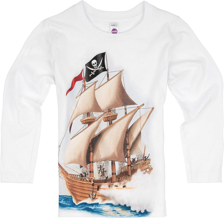 Shirts That Go Little Boys' Long Sleeve Pirate T-Shirt