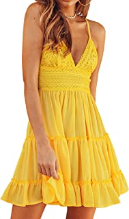 Best casual yellow summer dresses Reviews