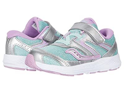 Saucony Kids S-Cohesion 13 Jr (Toddler) (Silver/Turquoise) Girls Shoes