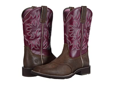 Ariat Delilah (Java/Burgundy) Cowboy Boots