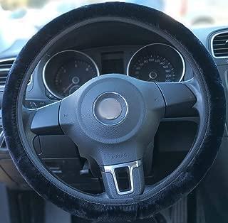 Protecteur Universel Diam/ètre 36-39 cm Upgrade4cars Couvre Volant Noir en Fourrure Accessoires Auto Housse de Volant Voiture Peluche