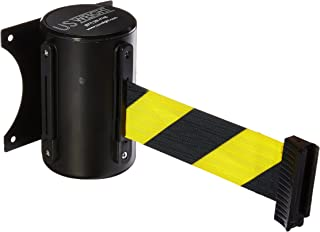 US Weight Wall Mount with Retractable Belt – 13' Yellow/Black Chevron Pattern