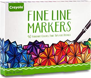 Crayola Fine Line Markers, Assorted Colors, Adult Coloring, 40 Count, Stocking Stuffer, Gift