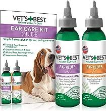 Vet's Best Dog Ear Cleaner Kit | Multi-Symptom Ear Relief | Wash & Dry Treatment | Alcohol-free