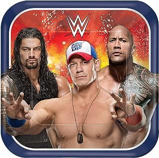 amscan WWE Square Plates, 9