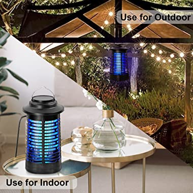 TOMPOL Bug Zapper for Indoor and Outdoor, 4200V Electric Mosquito Zapper, High Powered Pest Control Waterproof, Insect Killer