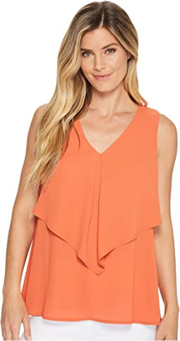 Pleated Overlay Top