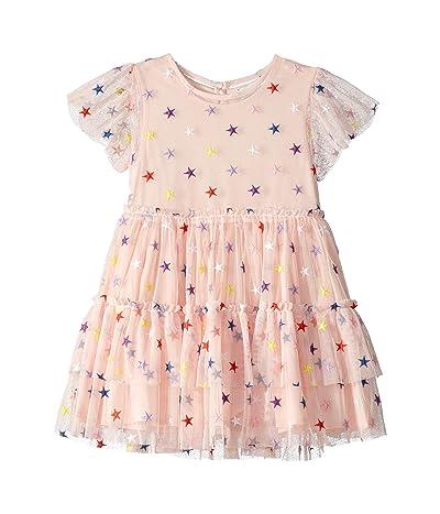 Stella McCartney Kids Embroidered Stars Tulle Dress (Toddler/Little Kids/Big Kids) (Pink) Girl
