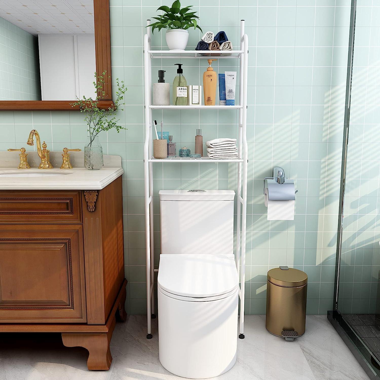 HAHRIR 3-Shelf Luxury Bathroom Organizer Over Washington Mall Toilet Space Saver Ov The