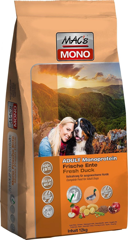 MAC'S Trockenfutter MONO SENSITIVE Ente und Kartoffel für Hunde 12 kg