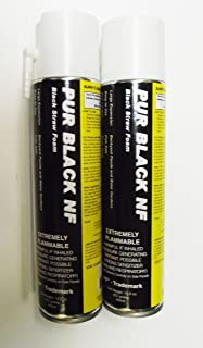 2 Cans of Black Foam with Dispenser