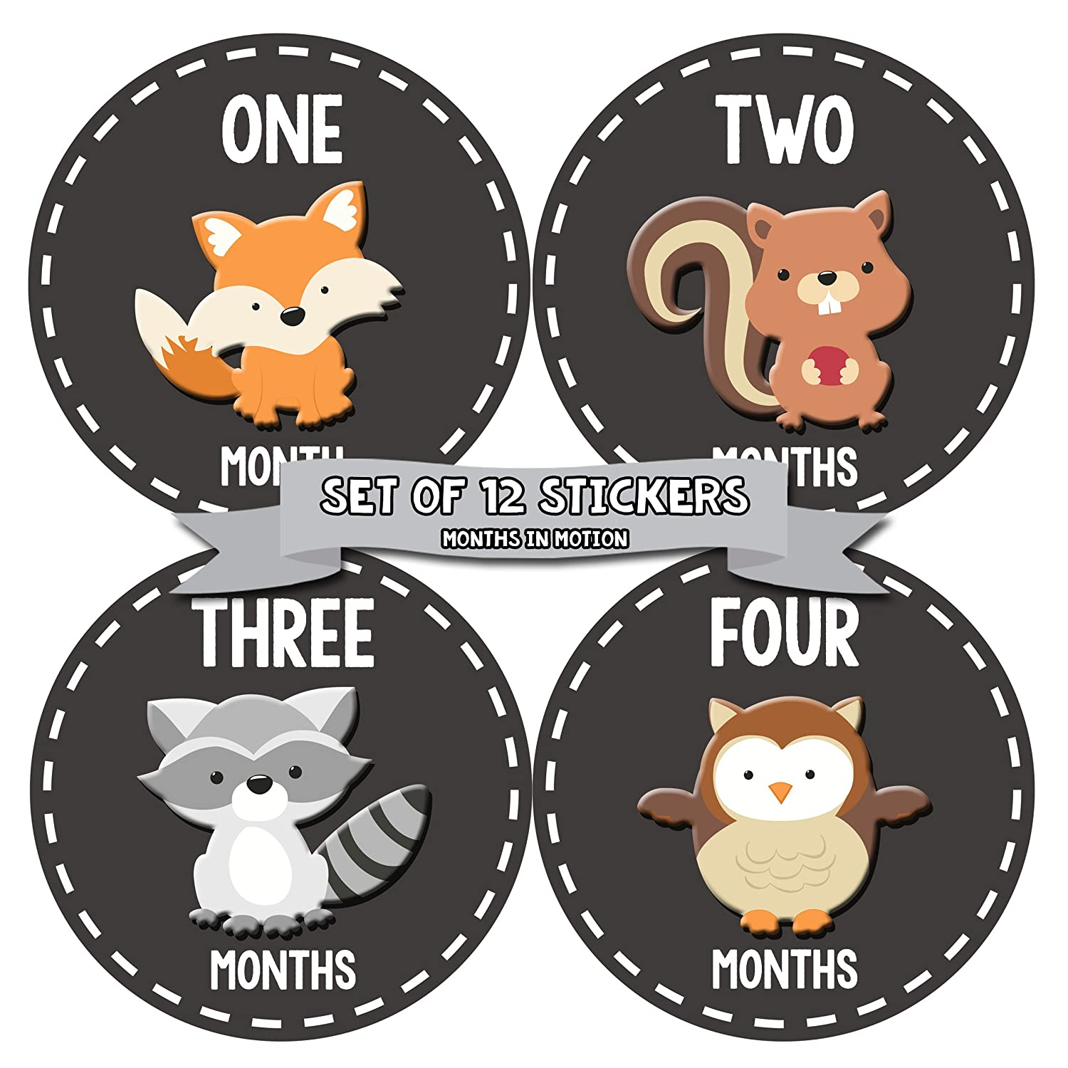 Months In Motion Gender Neutral Baby - Stickers Mi Choice Month At the price of surprise Monthly