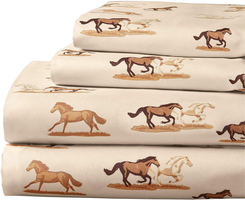予約 Printed Dashing Horses Sheet Set Bedsheet Machi - Pillowcases 未使用品