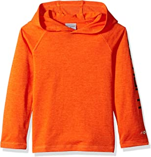 Boys' Hooded Long Sleeve Fastdry Active Tee T-Shirt