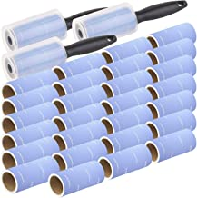 PEARL Kleiderrolle: 3x 10er-Set: Fusselrolle mit Griff und 9 Ersatz-Rollen, 600 Blatt..