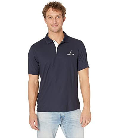 Nautica Solid Classic Fit Navtech Polo (Navy) Men