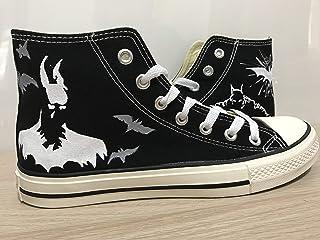 e88bf8f1b9607e Batman Anime Shoes Hand Painted Shoes Black Hightop Custom Shoes For Men  Painted Shoes Custom Chuck