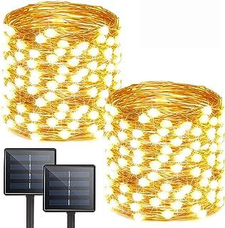 Albelt Extra-Long 2-Pack Each 72ft 200 LED Solar String Lights Outdoor Waterproof, Solar Lights Outdoor Solar Fairy Lights...