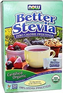 Now Foods, Certified Organic, Better Stevia, 75 Packets, 2.65 Oz (75 G)
