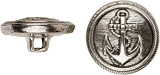 Size 30 Ligne Antique Nickel C/&C Metal Products 5260 Football Stitch Metal Button 36-Pack C/&C Metal Products Corp
