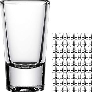 Giessle 100 Stück Schnapsgläser, Wodka Gläser Schnapsglas Pinchen Pinnchen Stamper Shots aus Glas