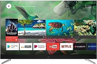 TCL U49C7006 - Televisor de 49 pulgadas, Smart TV con 4K UHD, HDR Premium, Wide Color Gamut, Android TV y JBL by HARMAN, Aluminio Cepillado [Clase de eficiencia energética A+]