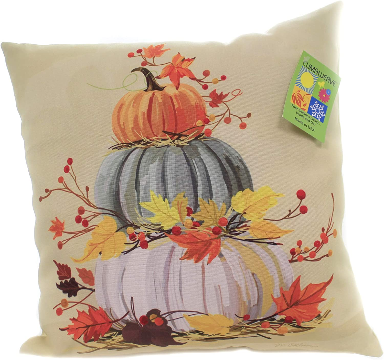 Fall Stacked Over item handling ☆ Pumpkins Pillow 18.0