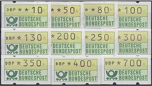 Goldhahn BRD Bund ATM 1.1 hu TS8 postfrisch  10 50 80 100 130 200 250 300 350 400 700 PFG. Briefmarken für Sammler