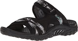 Skechers Womens 41022 Reggae - Fizzle - Adjustable Webbing Slide