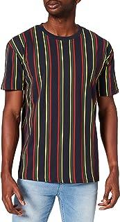 Urban Classics Men's Printed Oversized Retro Stripe Tee T-Shirt