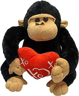 Valentines Day Mac Gorilla Black 32cm with Red Heart XO Message Valentine's Day Gift Soft Plush Toy