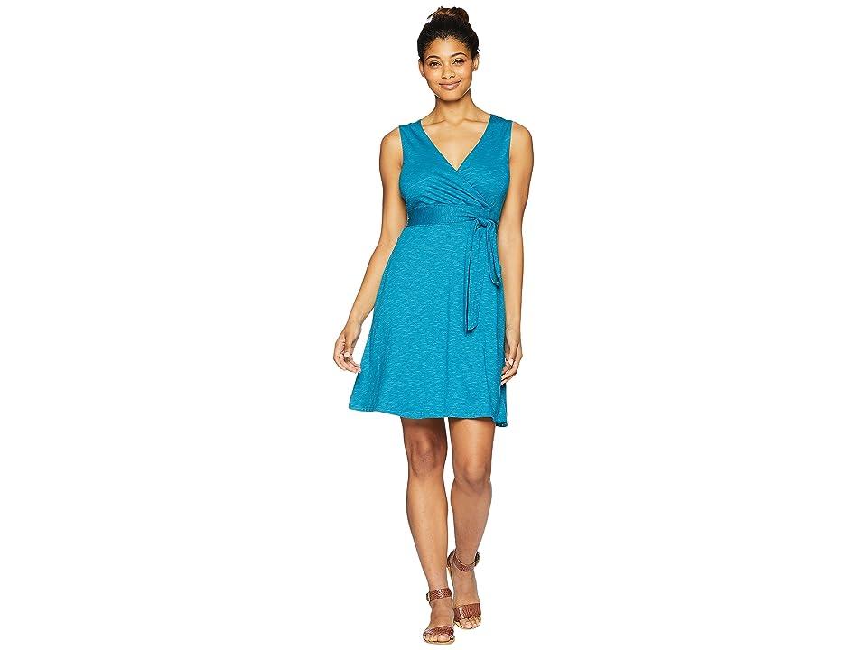 Toad&Co Cue Wrap Sleeveless Dress (Deepwater) Women