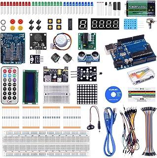 Kuman arduino用スターターキット Arduinoをはじめよう 日本語マニュアル R3ボード 初心者 LEDセット ブレッドボード 電子工作 Mega 2560 K4